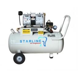 Compresor libre de aceite 1 HP, 48 litros