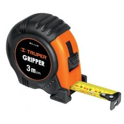 Flexómetro Gripper, contra impacto, 3 m, cinta 1/2