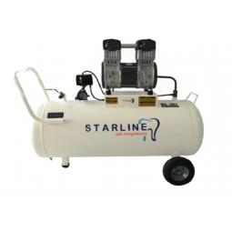 Compresor libre de aceite 2 HP, 108 litros