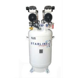 Compresor libre de aceite 4 HP, 150 litros