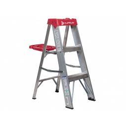 Escalera tipo tijera de aluminio base polipropileno