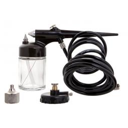 Aerógrafo de succión con accesorios
