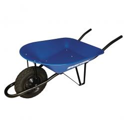 Carretilla con bastidor metálico azul 65L