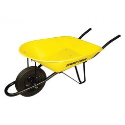 Carretilla con bastidor metálico amarilla 75L