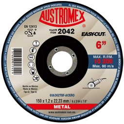 Disco para corte de metal 6