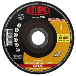 Disco para corte de metal de 4