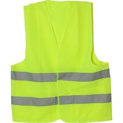 Chaleco de tela color amarillo talla G