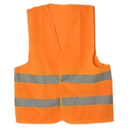 Chaleco de tela color naranja talla G