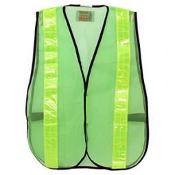 Chaleco malla verde de seguridad D1