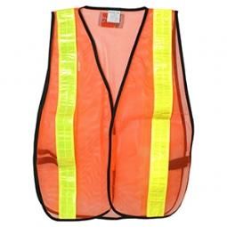 Chaleco malla naranja de seguridad D1
