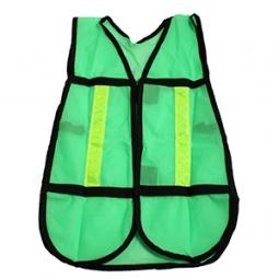 Chaleco malla verde de seguridad D2