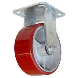 Rodaja de fierro PU rojo fija 3