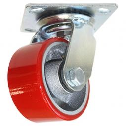 Rodaja de fierro PU rojo giratoria 3