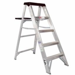 Escalera, tipo tijera de aluminio, de polipropileno