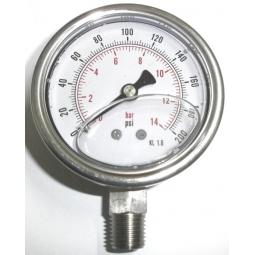 Manómetro glicerina 200 PSI INF