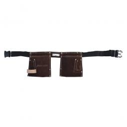 Estuche de cuero con cinto de 10 bolsillos