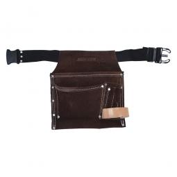 Estuche de cuero con cinto 3 bolsillos
