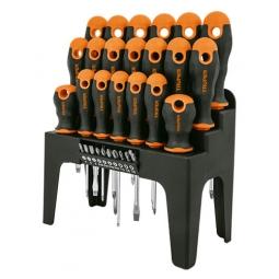 Set de desarmadores, 30 piezas, en organizador plástico