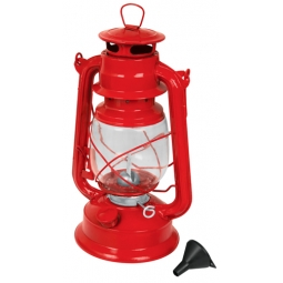 Lámpara de petróleo roja
