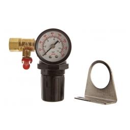 Manómetro y regulador de aire