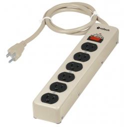 Multicontacto uso rudo de 6 entradas con supresor