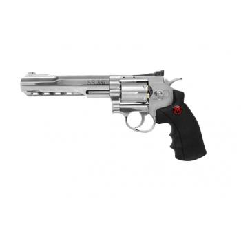 revolver co2 full metal acabado silver mun 4.5