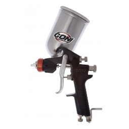 Pistola de gravedad con vaso giratorio