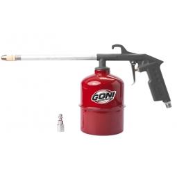 Pistola limpia motores con vaso  de 1 l