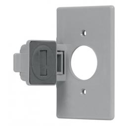 Placa para contacto redondo para intemperie de policarbonato