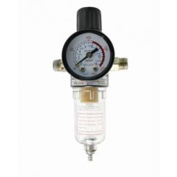 Regulador de aire para compresor de dos vías con filtro integrado