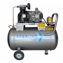 Compresor eléctrico de 3/4 HP, 72 litros