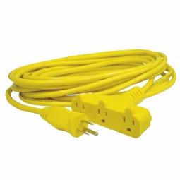 Extensión eléctrica triple de uso rudo