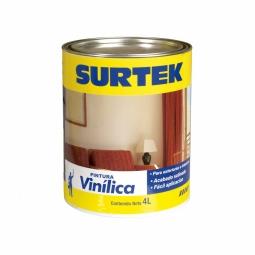 Pintura vinílica blanca en lata de 4 L