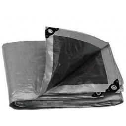 Lona reforzada de color gris 1.5 x 2 m