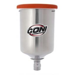Vaso de aluminio para pistola de gravedad de 600 ml